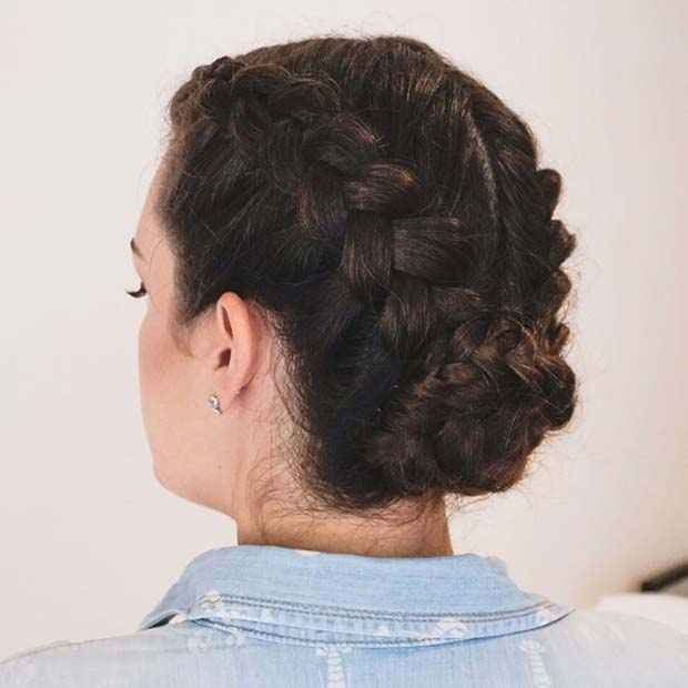 Boxer Braid Bun for Beautiful Braided Updos