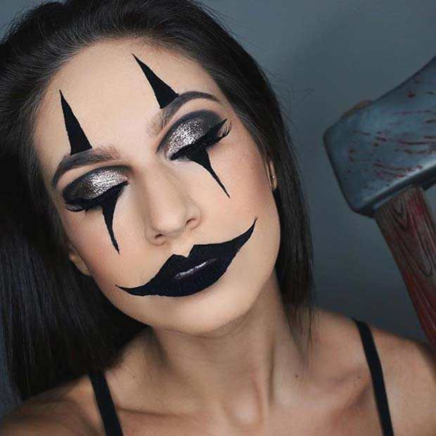 Creepy Clown Makeup for Easy Halloween Makeup Ideas
