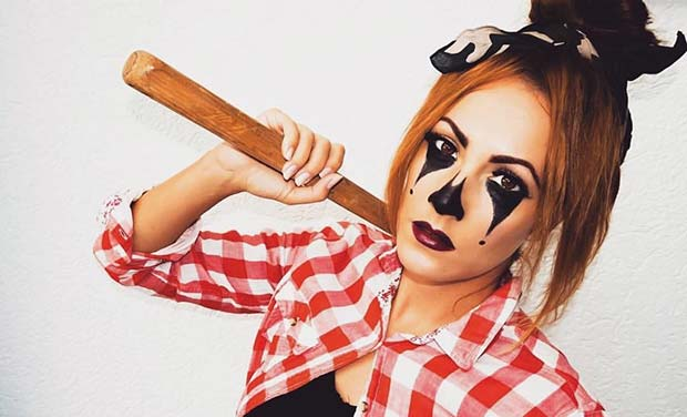 Halloween Clown for Easy, Last-Minute Halloween Makeup Looks
