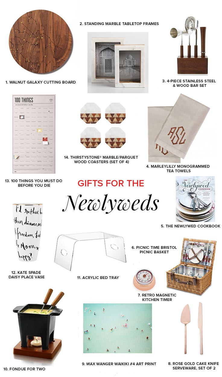 Gift Guide for the Newlyweds under $  100 see more: https://ruffledblog.com/gift-guide-newlyweds-under-100 #holiday #giftguide #newlyweds