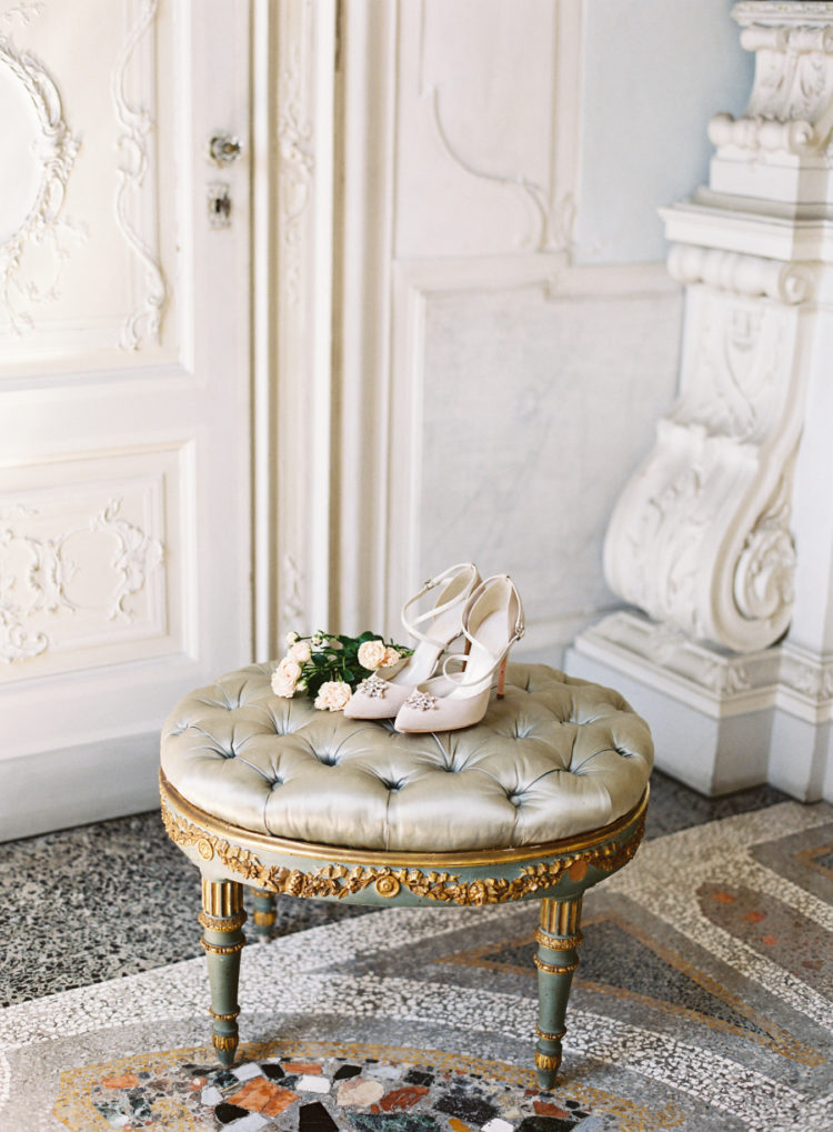 Have a look at these gorgeous blush embellished wedding shoes