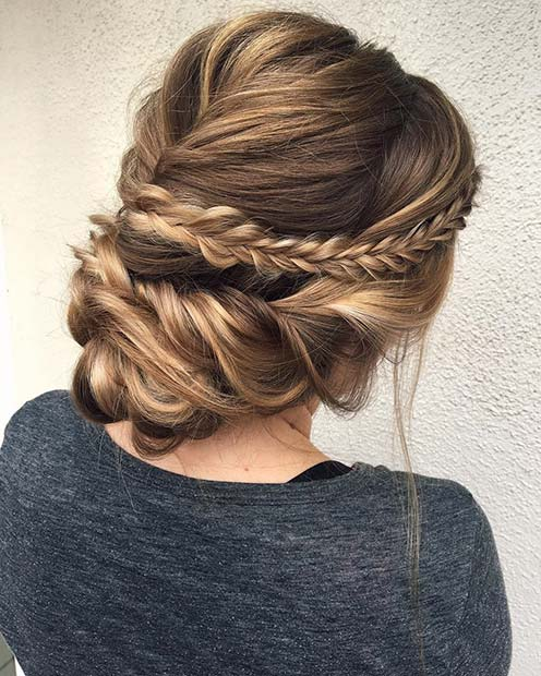Soft and Romantic Braided Updo for Beautiful Braided Updos