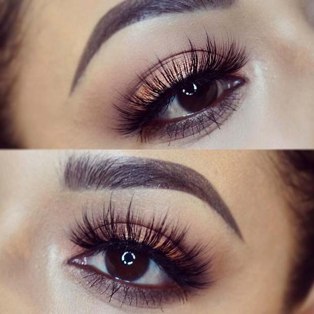 Warm Eye Shadow Bold Lashes for Makeup Ideas for Thanksgiving Dinner