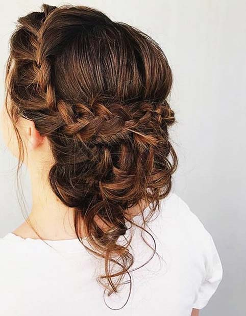 Braided Bridal Updo for Beautiful Braided Updos