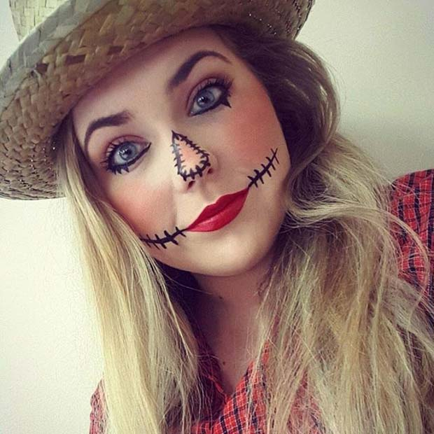 Scarecrow Makeup for Easy Halloween Makeup Ideas