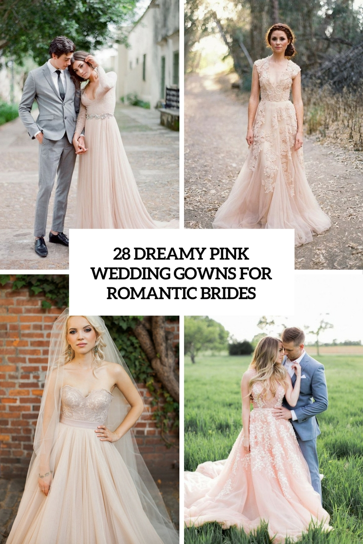 dreamy pink wedding gowns for romantic brides cover