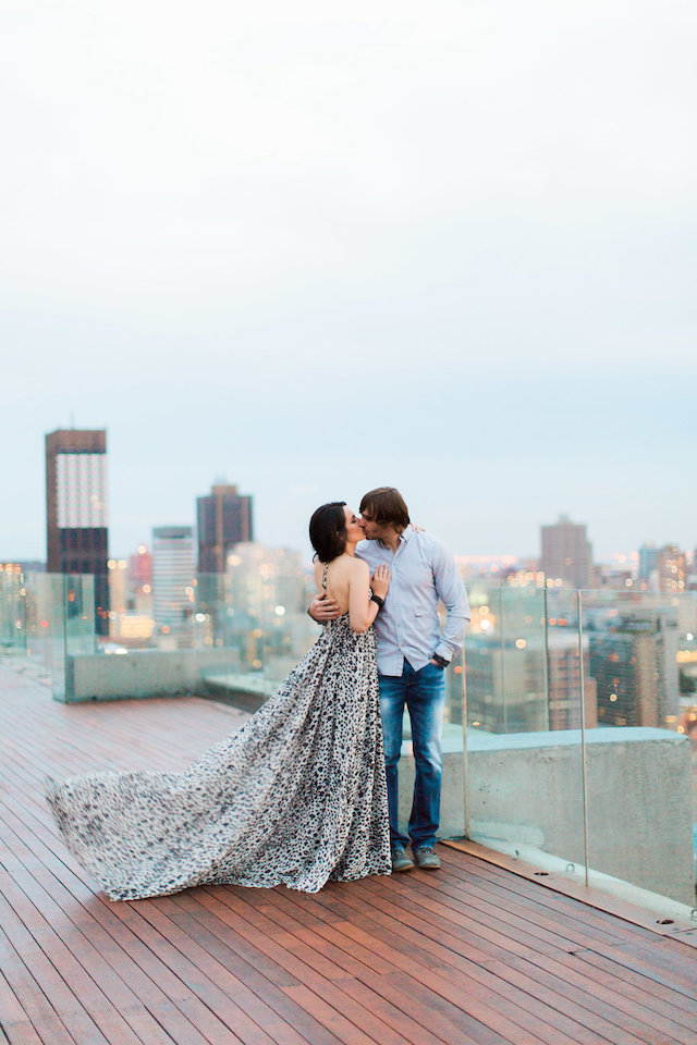 Sex and the city style engagement session in Johannesburg, South Africa with 2 engagement dresses