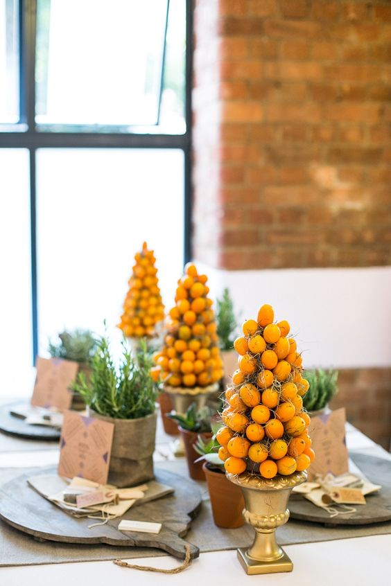cute kumquat topiaries will be cute table decorations or centerpieces
