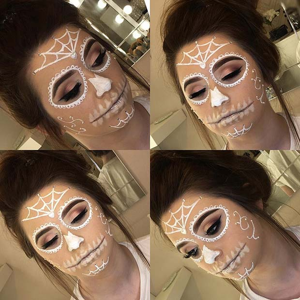 Sugar Skull Makeup for Easy, Last-Minute Halloween Makeup Looks