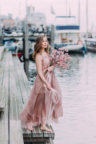 Spring bridal session in Amsterdam