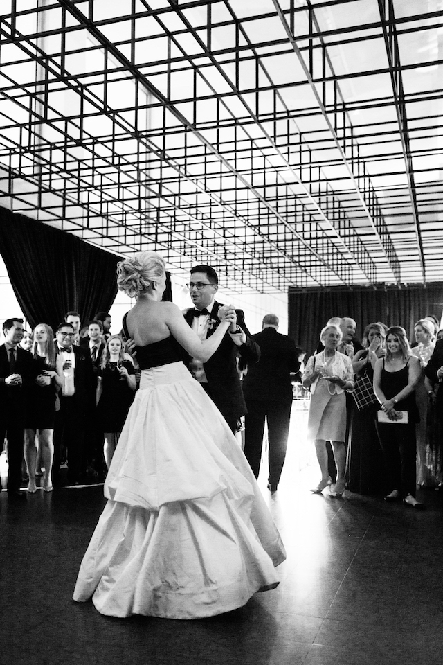 Modern art museum wedding