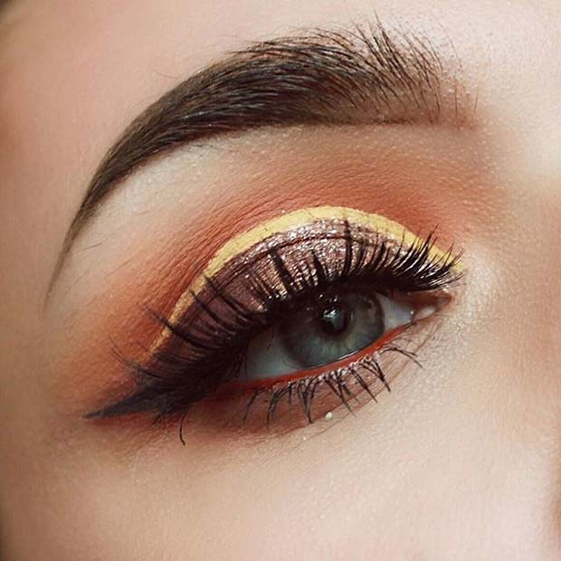 Warm Tone Eye Makeup for Fall Makeup Looks