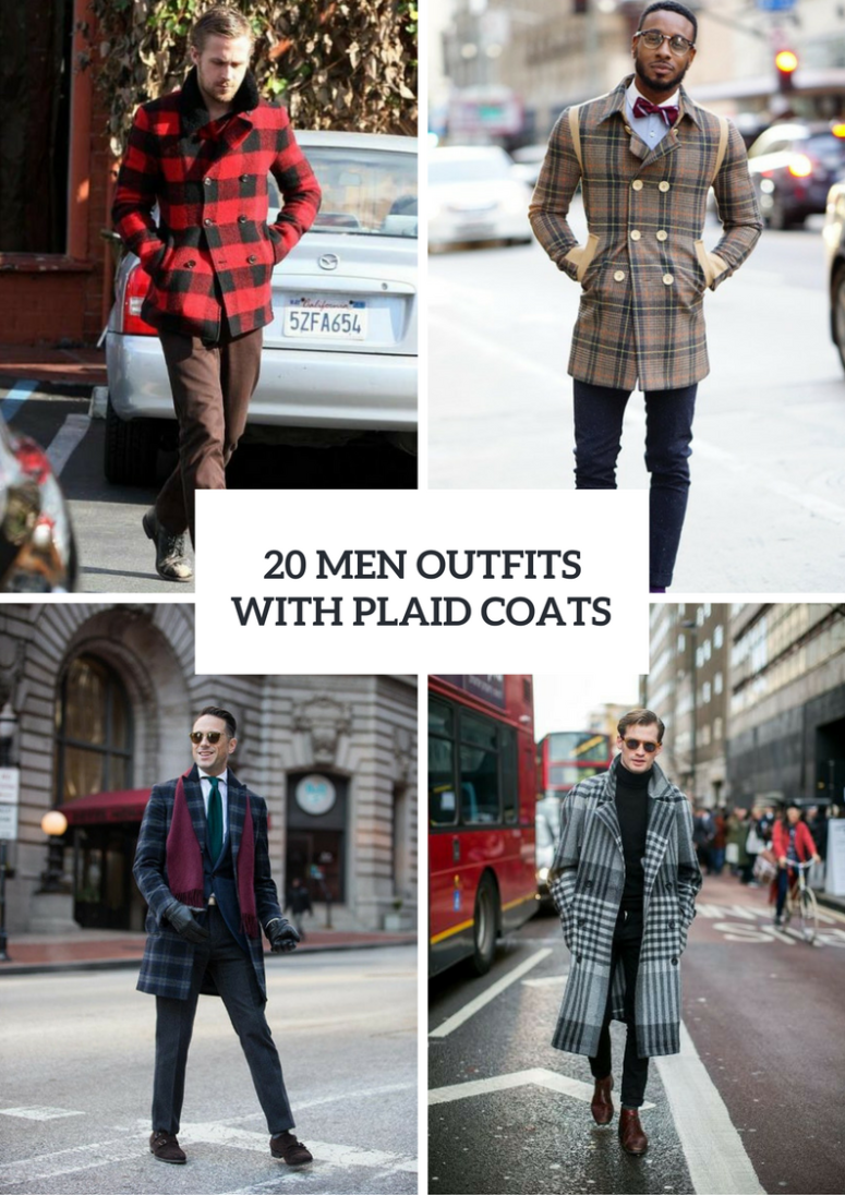 Men Outfits With Plaid Jackets And Coats