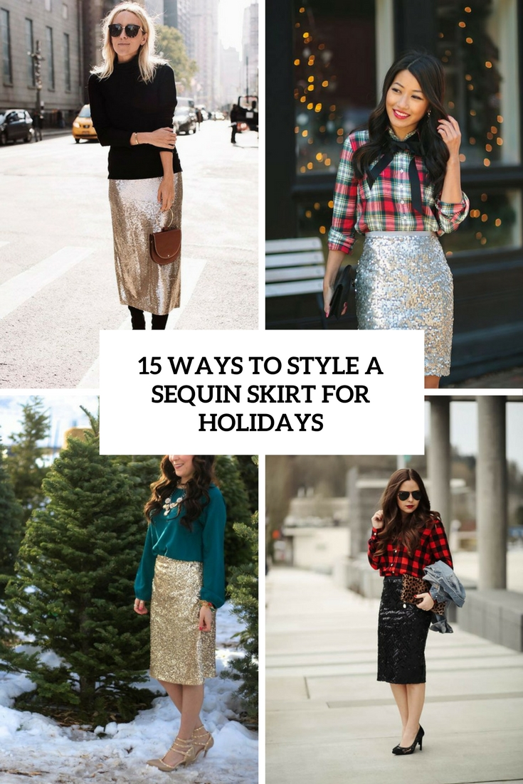 ways to style a sequin skirt for holidays cover