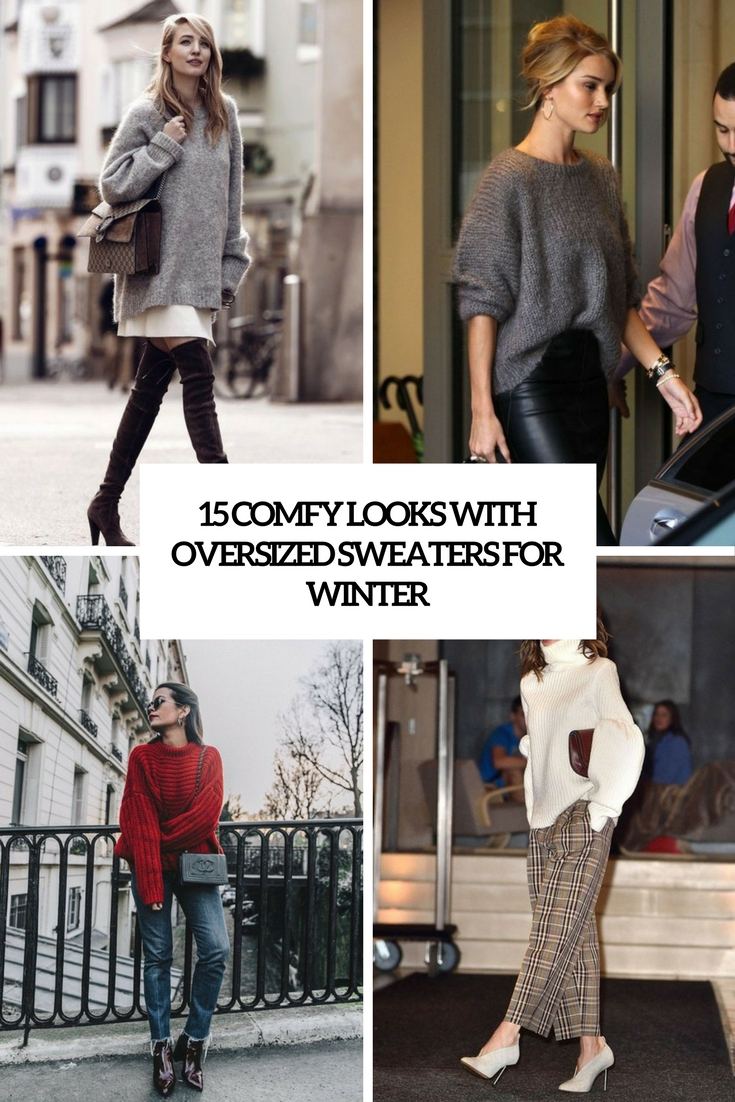 comfy look with oversized sweaters for winter cover