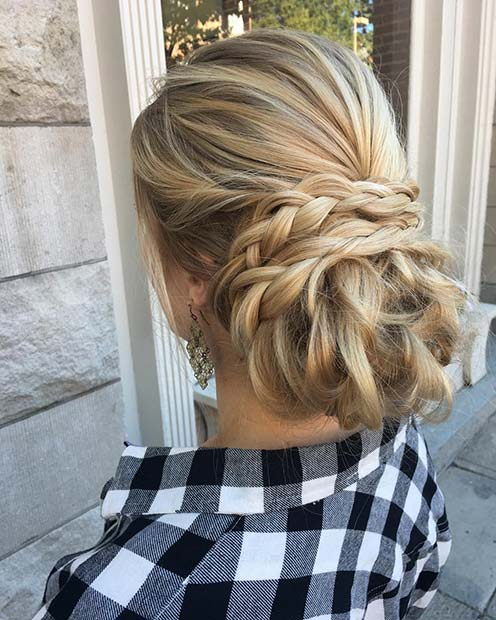 Elegant Braided Updo for Beautiful Braided Updos