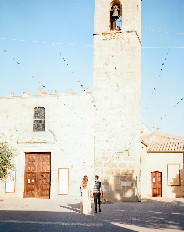 Engagement in San Sperate, Sardinia, Italy