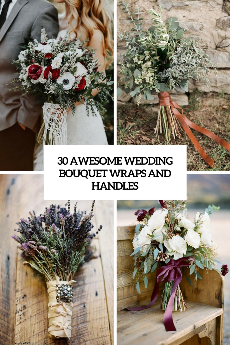 awesome wedding bouquet wraps and handles cover