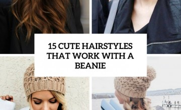 cute hairstyles that work with a beanie cover