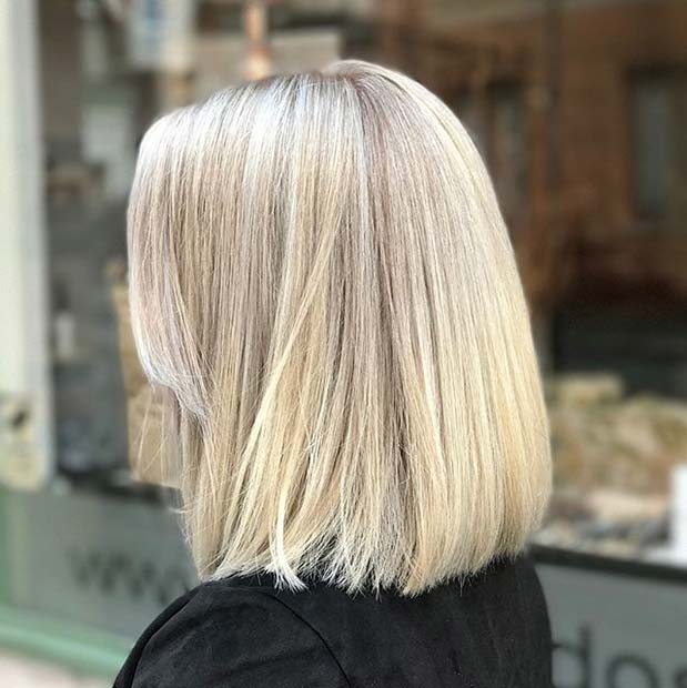 Blonde Lob for Lob Hairstyles for Fall and Winter