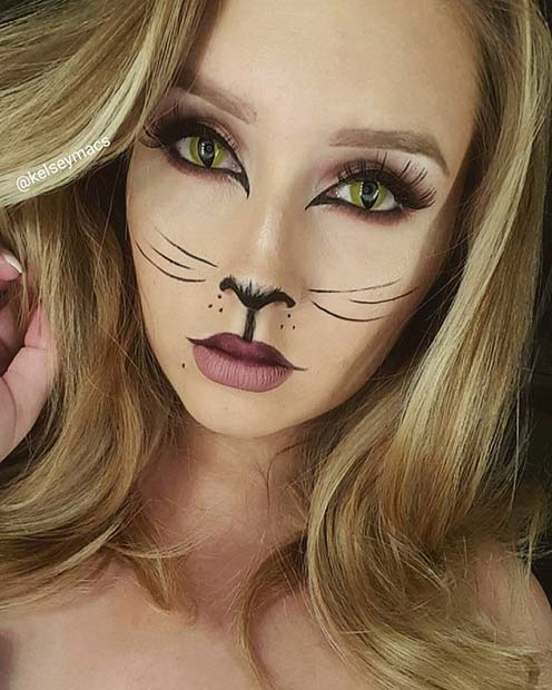 Stunning Cat Makeup for Pretty Halloween Makeup Ideas