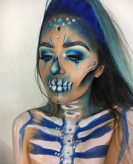 Cobalt Skeleton for Skeleton Makeup Ideas for Halloween