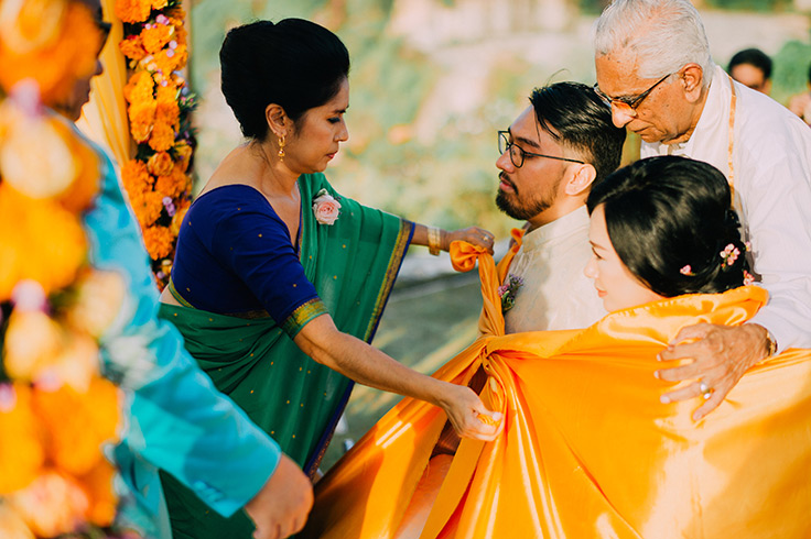 Colorful Multicultural Bali wedding #bali #wedding #destinationwedding see more: https://ruffledblog.com/multicultural-wedding-bali