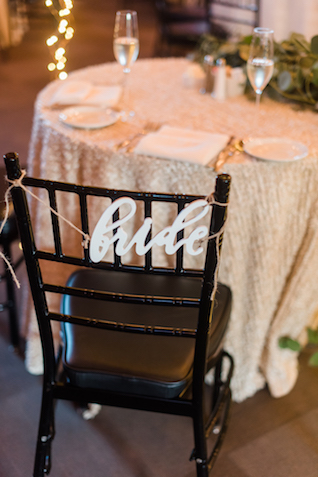 Bride chair sign