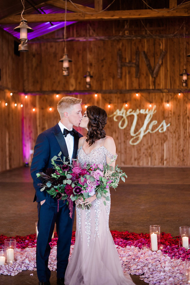 A styled shoot turned surprise proposal with the entire family involved