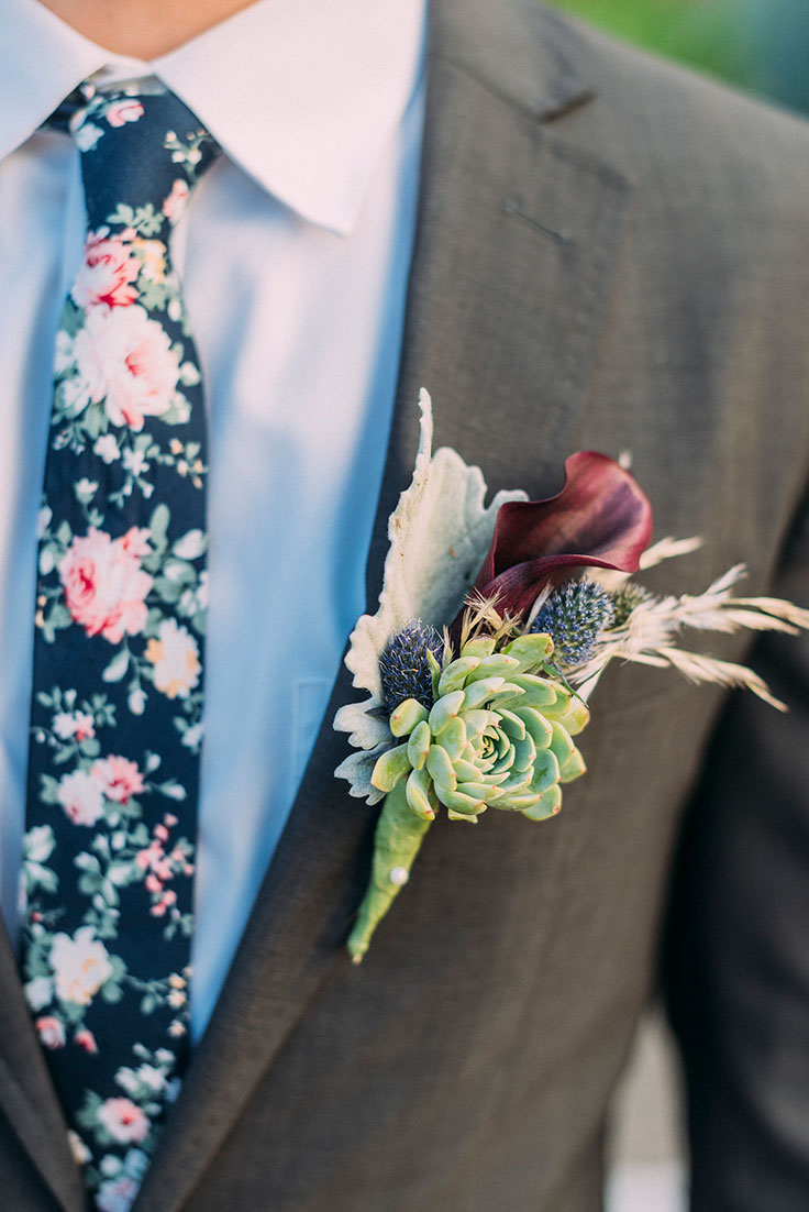 Succulent Garden Wedding Inspiration with Indigo https://ruffledblog.com/succulent-garden-wedding #gardenwedding #indigo #succulents