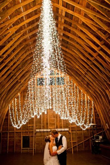 hang string lights in various shapes or create canopies of them to make the space more eye-catchy