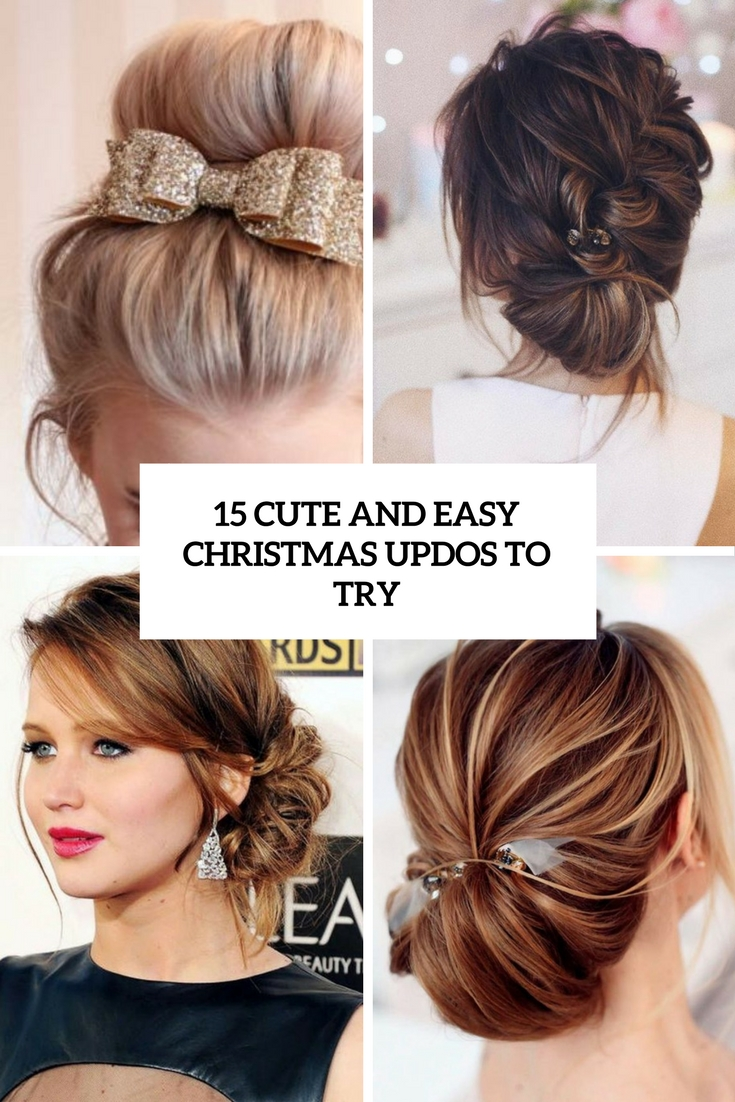 cute and easy christmas updos to try cover
