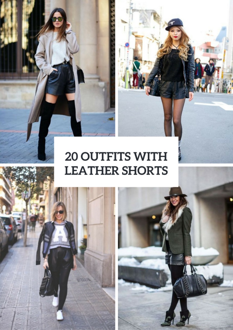 Winter Outfits With Leather Shorts
