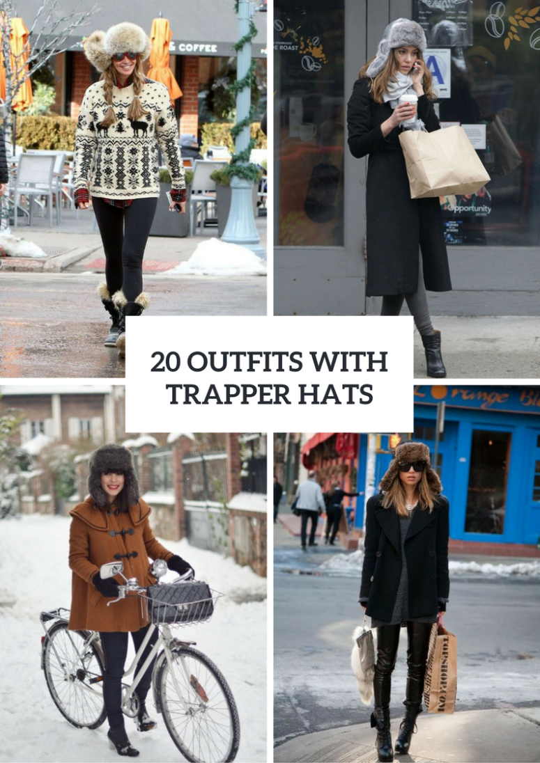 Winter Outfits With Trapper Hats