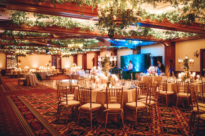 Reception Lighting by LG Entertainment at The Houstonian
