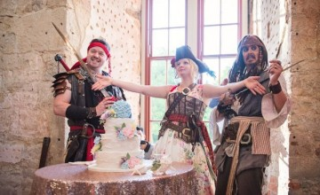 This wedding was fun and filled with pirates, florals, good food and laughter