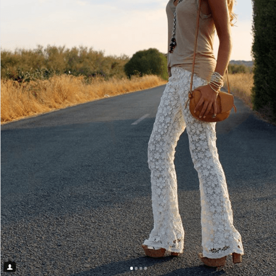 Lacy-Hippie-Bottoms 25 Best Ideas on How to Wear Hippie Pants for Women
