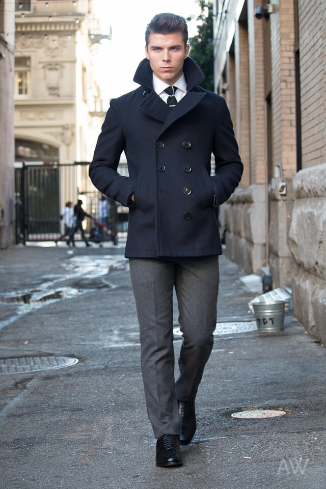 Men-Peacoat-Outfit8 Men Peacoat Outfits – 20 Ways to Wear a Peacoats for Guys
