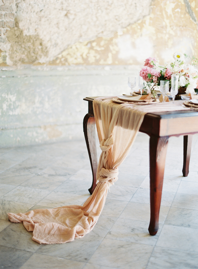 Silk table runners