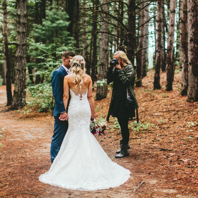 Wedding Photographer in the Woods