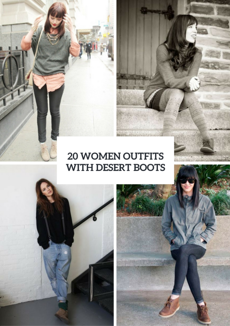 Women Outfits With Comfy Desert Boots
