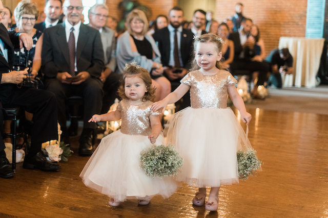 Sequins and tulle flower girl dresses