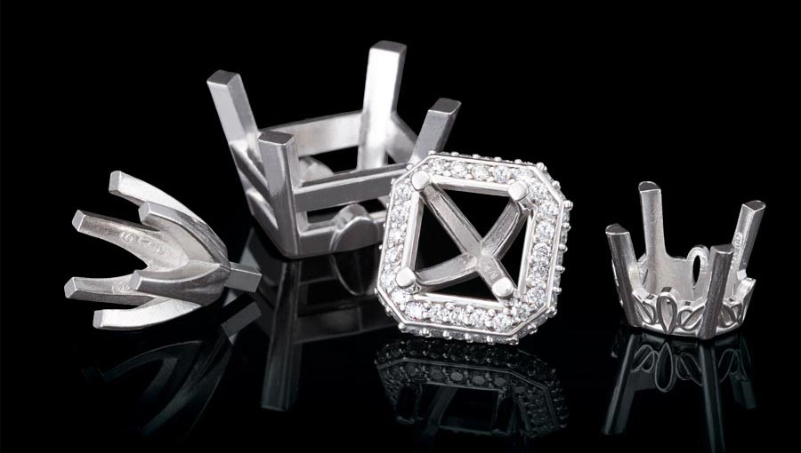 platinum jewelry crown strongest metal secure setting for diamond setting