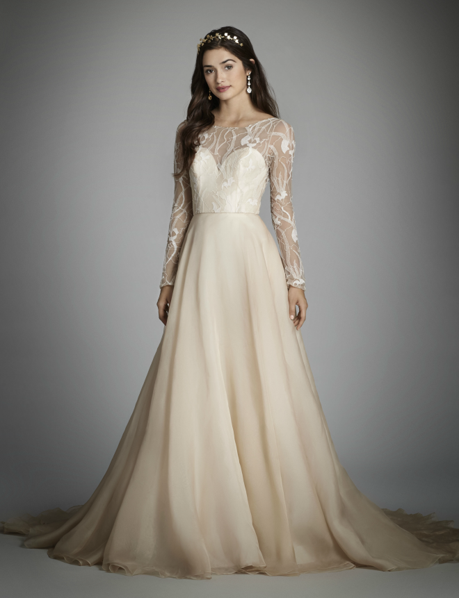 Alvina Valenta Long Sleeve Gown Spring 2018
