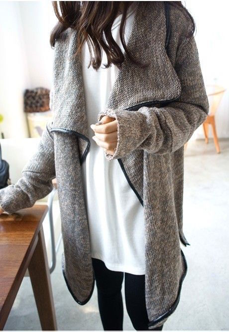 street-style-sweater-coat-1 Top 70 Fall Outfits for Teen Girls to Copy This Year