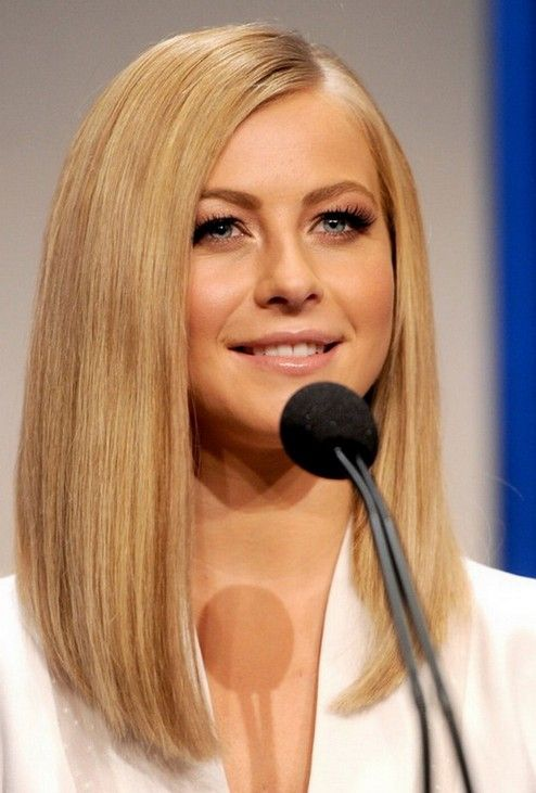 a long straight bob with an angled cut looks gorgeous anytime