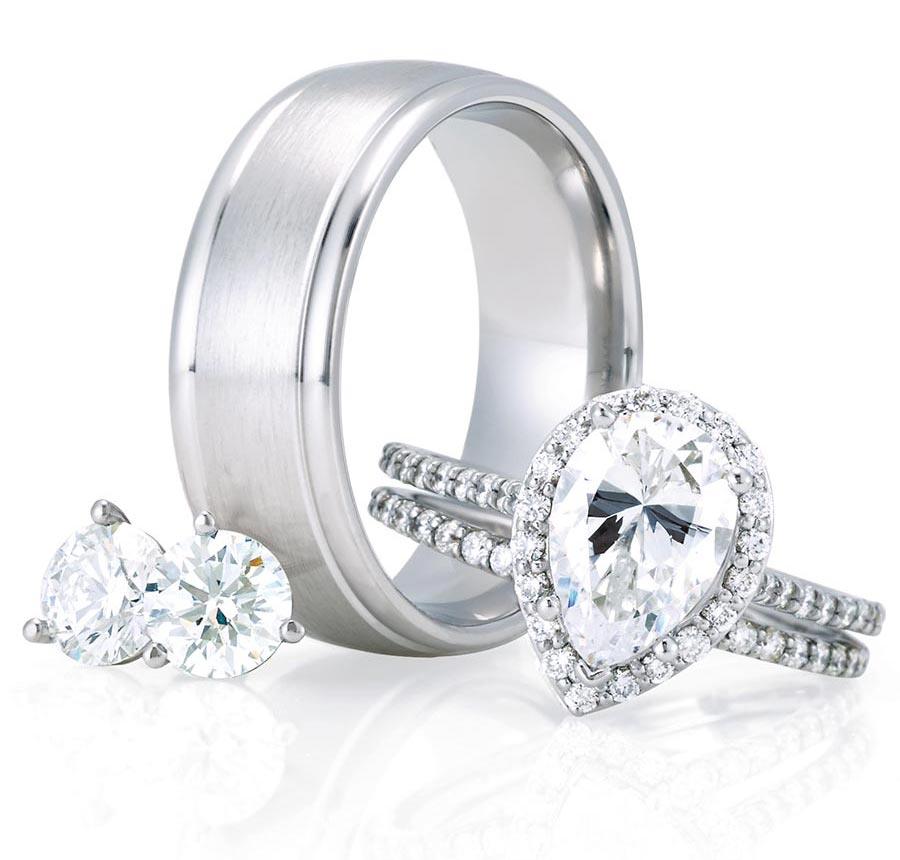 platinum jewelry strong wedding band prong setting for diamond engagement ring