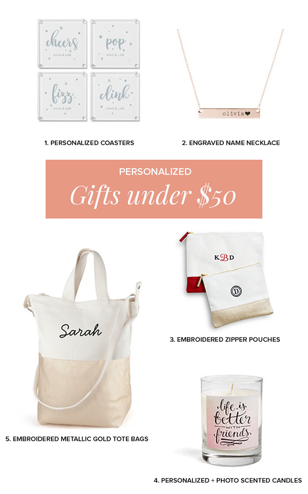 Gifts ideas for the bridal party under $  50 See more: https://ruffledblog.com/gift-ideas-bridal-party