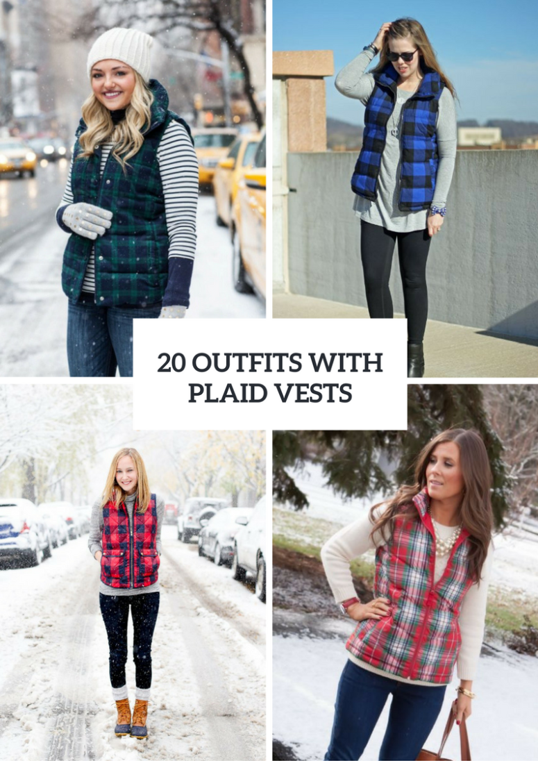 Plaid Vest Outfits For This Season