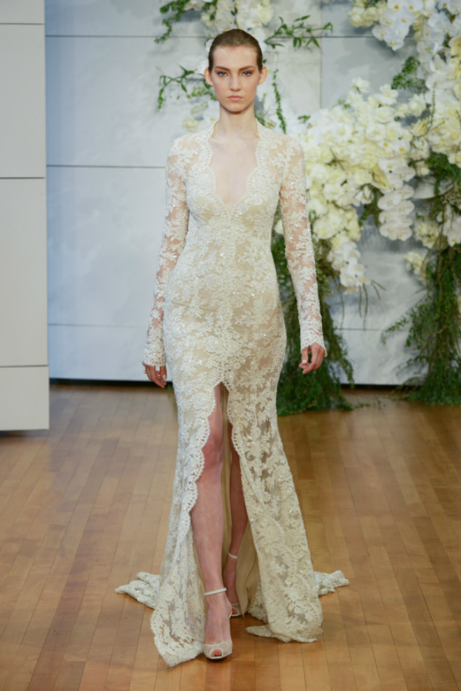 Monique Lhuillier Long Sleeve Gown Spring 2018